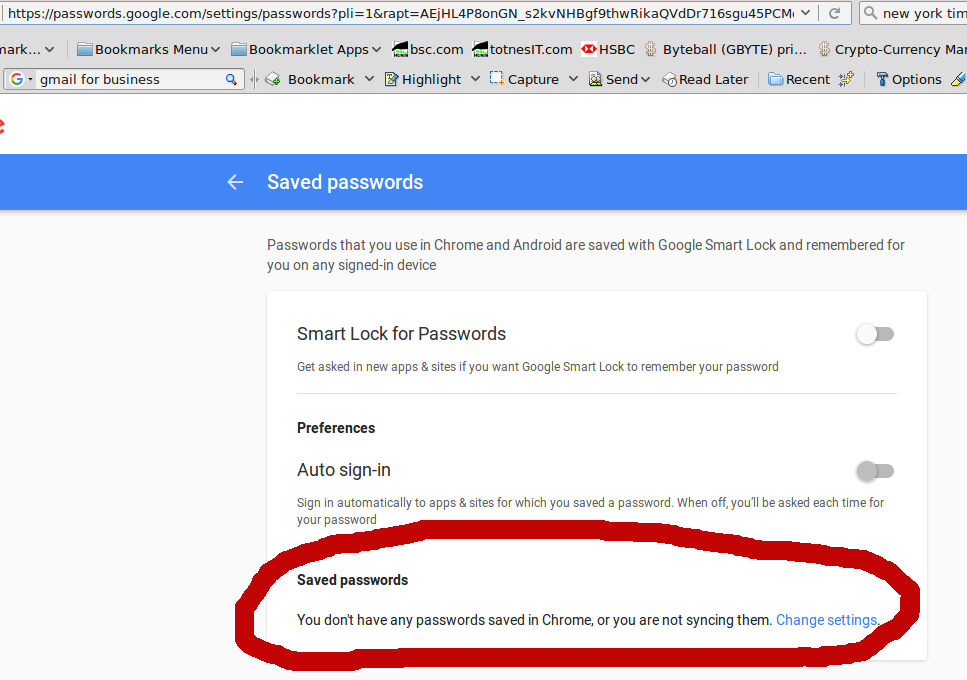 Passwords, to save (in browsers) or not to save…    totnesIT com